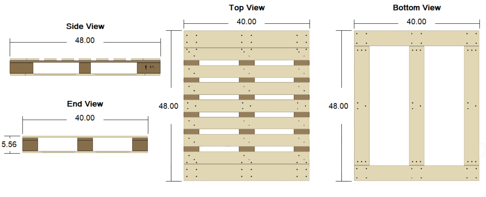 Pallet specification drawing